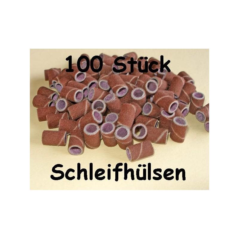 100 Schleifbänder / Schleifhülsen / Schleifkappen