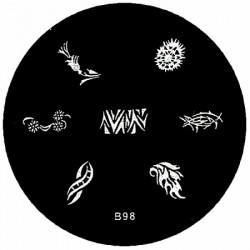 B98 Stamping Schablone